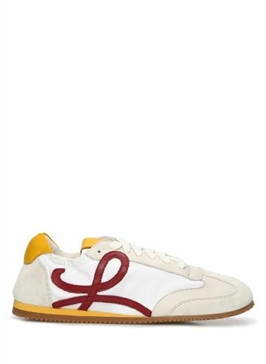 Loewe Loewe   Logolu Kadın Deri Sneaker 101613490 Beyaz